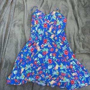 Blue floral sun dress